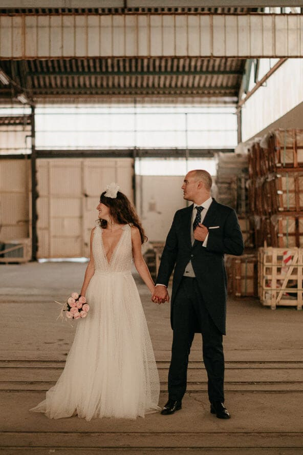 Industrial Train Station Wedding