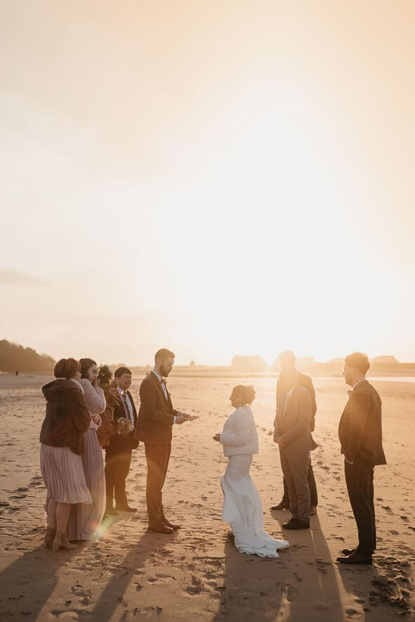 Normandy Beach Wedding