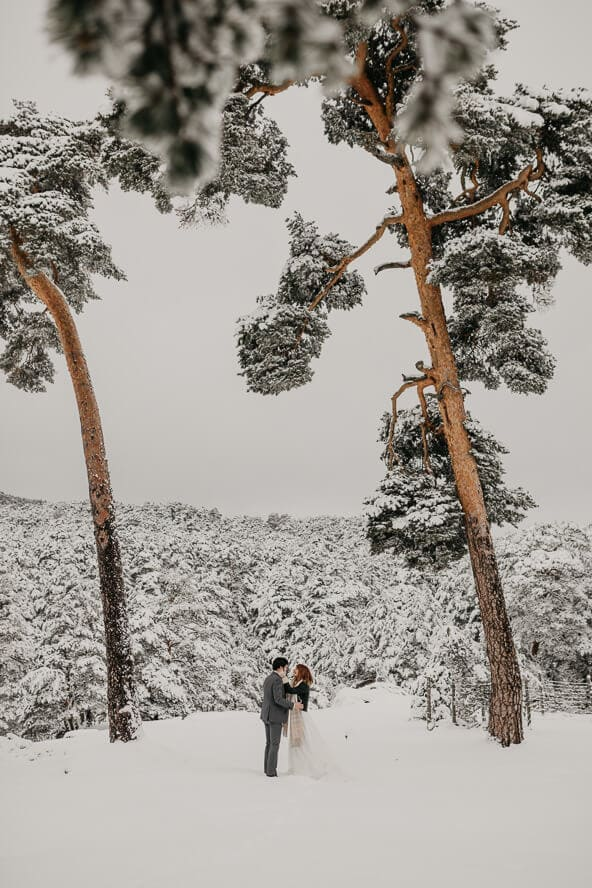 Winterland Wedding in the Snow